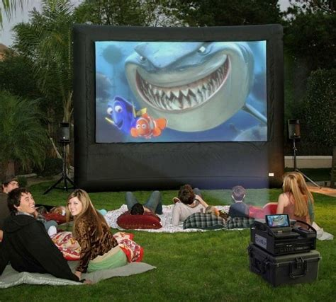 pro cinebox outdoor movie system 12x7 screen theater dvd