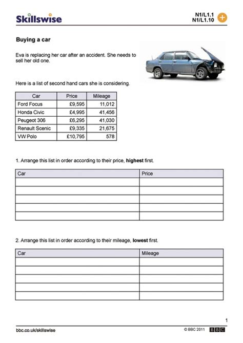 Car Buying Spreadsheet by Buying A Car
