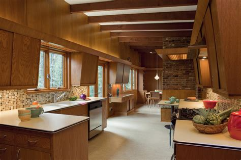 Mid Century Kitchen Ideas Mid Century Modern Fireplace Kitchen Midcentury With Eat In Kitchen Brick Wall
