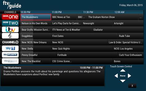 best tv program integrate ftv epg guide with ntv for uk tv on kodi xbmc