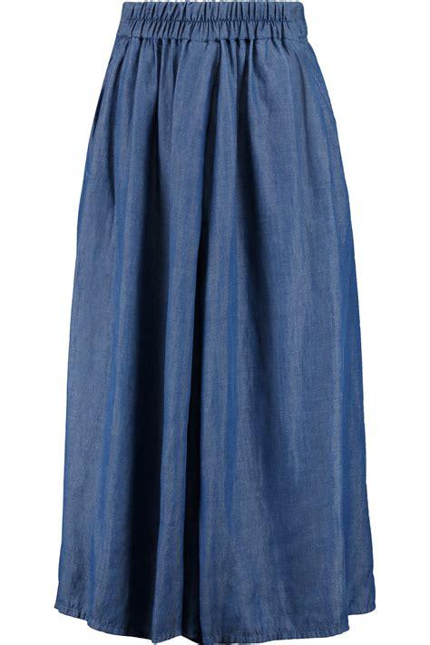 dkny denim skirt in blue lyst