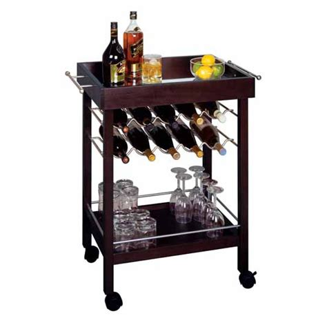 Kitchen Cart With Wine Rack by Wine Racks Winsome Wood 10 Bottle Rolling Wine Cart In