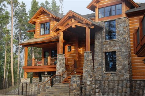 Cetakan Pagar Log Wood Ii great divide builders rustic exterior denver by great divide builders