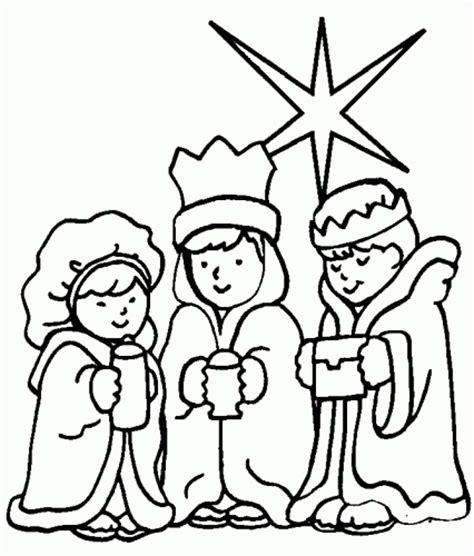 imagenes reyes magos niños dibujos de reyes magos para colorear