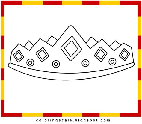 coloring pages printable for kids crown coloring pages