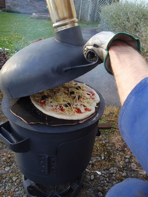 hton bay chiminea diy propane patio heater diy portable wood fired pizza