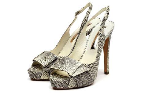 funky wedding shoes black white snakeskin onewed