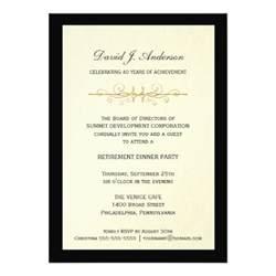 corporate retirement invitations 5 quot x 7 quot invitation card zazzle