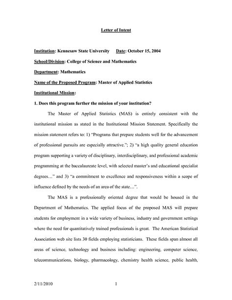 cover letter for applying for master degree letter of intent sle master degree
