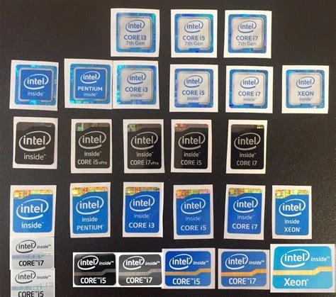 Intel Sticker intel i7 i5 i3 pentium xeon inside sticker 3rd 4th