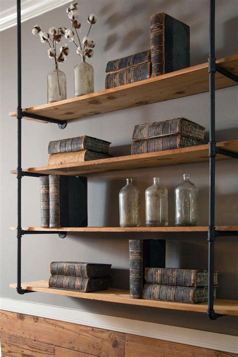 117 best rustic industrial decor images on pinterest best 25 shelves ideas on pinterest