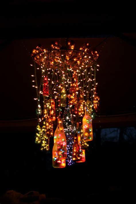 creative wine bottle chandelier ideas hative