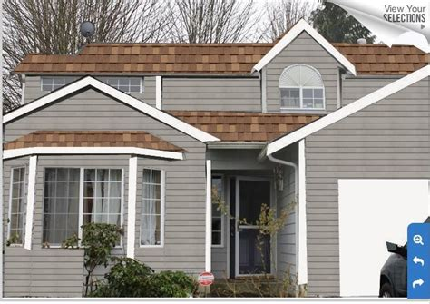 exterior paint colors brown roof search