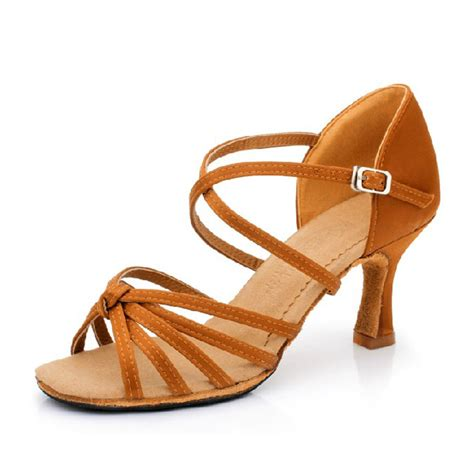 Sandal Heels 5 Cm satin ballroom shoes for 7 5cm thin heel shoes eur size 33 40 in