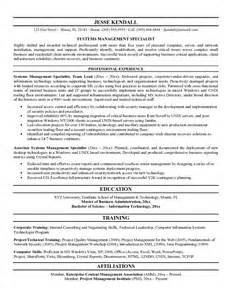 Information Systems Specialist Sle Resume information systems resume