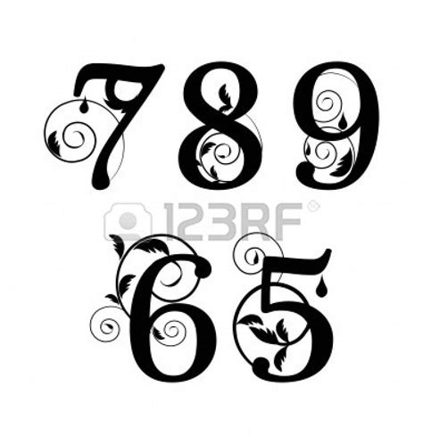 tattoo number fonts designs fancy fonts numbers search parent s weekend