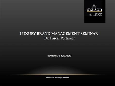 Luxury Brand Marketing Mba by Luxury Fashion Lifestyle Professionals Luxury Brand