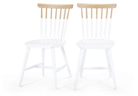chaise bois et blanc chaise bicolore blanc et bois