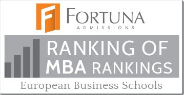 European Mba Rankings 2017 by Fortuna Ranking Of Mba Rankings 2017 European Business