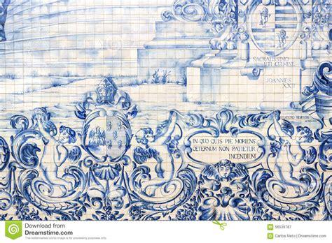 azulejo tiles porto carmo church side wall azulejo tile detail in porto
