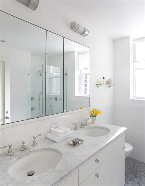 Medicine cabinets with mirror bathroom contemporary with double sink glass shower
