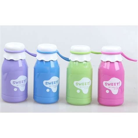 Botol Minum Kaca 350ml botol minum sweet fashion cup solid color 350ml sm 8406 blue jakartanotebook