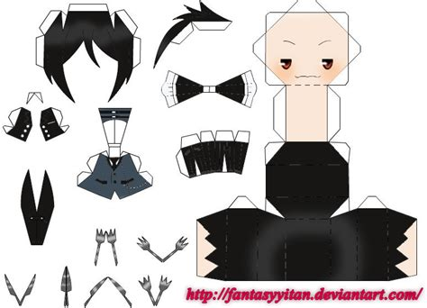Papercraft Templates Anime - sebas michaelis papercraft by fantasyyitan on deviantart