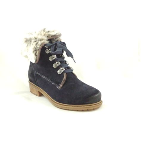 Faux Fur Lace Up Ankle Boots ara kansas st 12 48826 navy blue suede lace up ankle boot