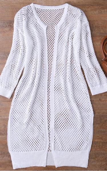 Knit Cover Up white open front knit cover up best fashion hq