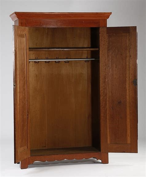 19th c american cherry wood armoire