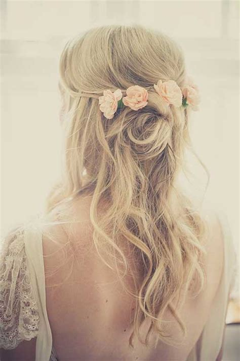 Wedding Hairstyles With Veil And Flower Big by 15 Half Up Half Bridal Hair Hairstyles Haircuts