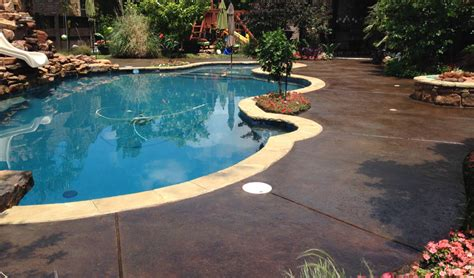 pool deck stain ideas concrete craft