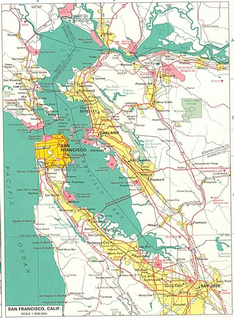 san francisco map berkeley s f bay area
