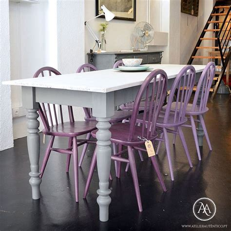 Purple Kitchen Table 17 Best Images About Chairs Chalk Paint 174 On