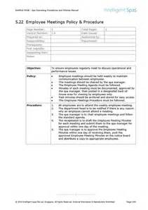 store operations manual template spa operating procedures and policies manual