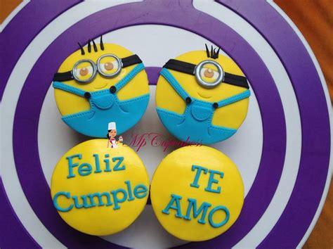 imagenes de violetta que digan feliz cumpleaños cupcakes de feliz cumplea 241 os con minions te amo