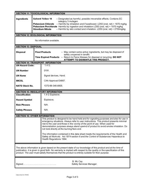 Material Safety Data Sheet Template by Material Safety Data Sheet Pictures To Pin On