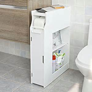 Bathroom Floor Magazine Rack Sobuy White Bathroom Cabinet Toilet Paper Roll Holder