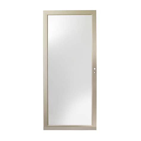 Andersen 4000 Door by Andersen 36 In X 80 In 4000 Series Sandtone Right Fullview Aluminum Door Hd4fer36sa