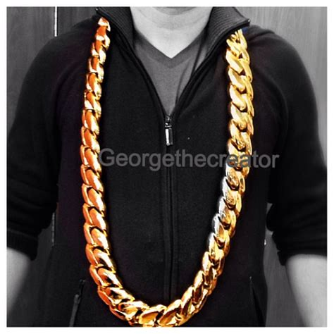Daddy Yankee 10 Kilo Yellow Gold Miami Cuban Link Chain Splash   Splashy Splash