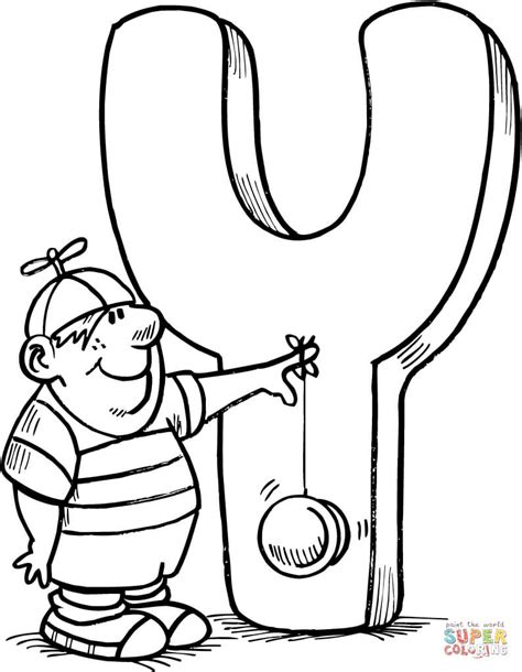 Letter Y Coloring Pages by Letter Y Is For Yo Yo Coloring Page Free Printable