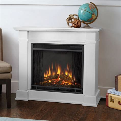 36 Electric Fireplace by Real Devin 36 In Electric Fireplace In White 1220e
