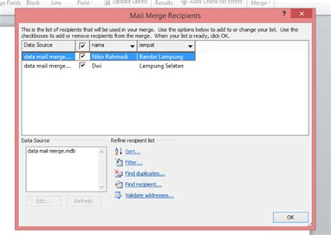 membuat mail merge di word 2010 cara membuat mail merge di ms office word 2007 2010