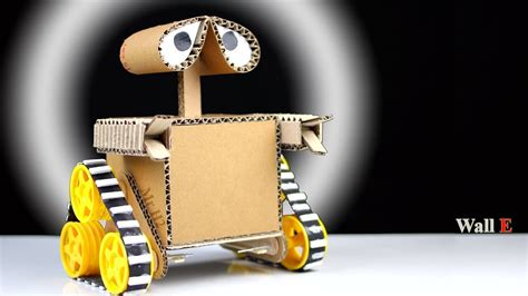 how to make a robot at home from cardboard diy wall e