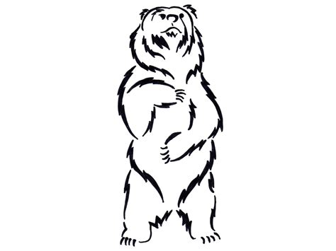Drawing Of A Standing Up by Standing And Growling Clipart Clipart Suggest