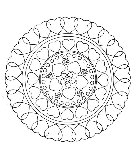 mandala coloring pages valentines to print this free coloring page 171 free mandala to color