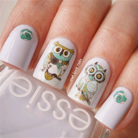 nail art pattern stickers nail art water decals transfer stickers cute animal owl