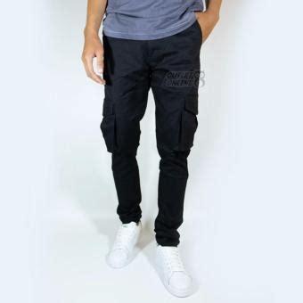 Celana Cargo Slim Fit price check of nhs celana cargo panjang slim fit abu tua