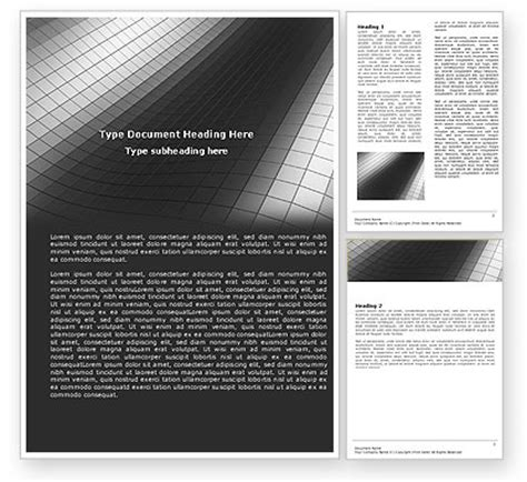 grayscale template grayscale word template 04986 poweredtemplate