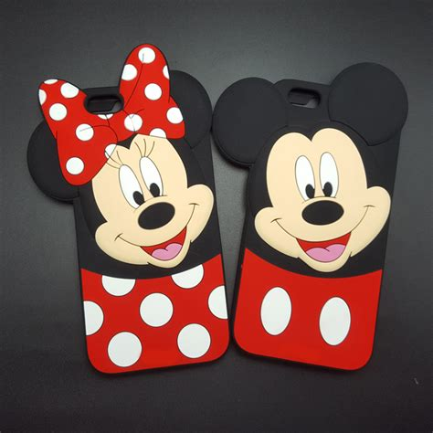 Iphone 5 5s 5g Se Minnie Mouse 3d Casing Soft Casing Bumper 3d mickey minnie mouse donald duck soft silicone for iphone 5 5s se 6 6s